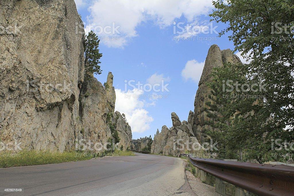 South Dakota Scenic Byway stock photo