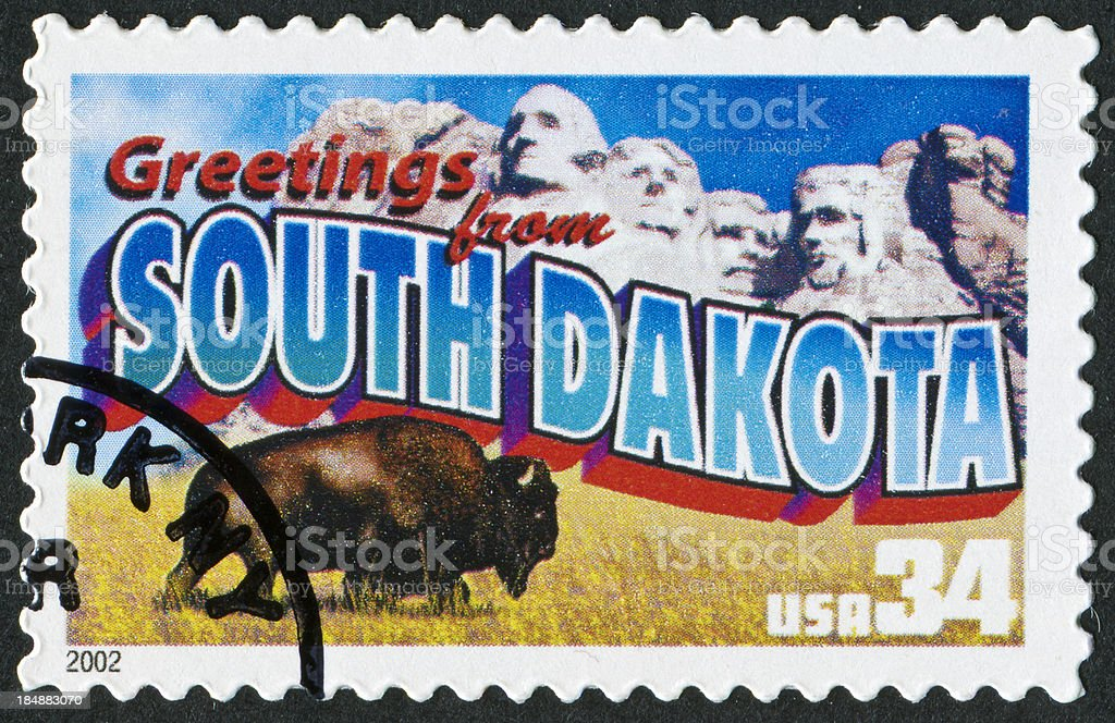 South Dakota Stamp royalty-free stock photo