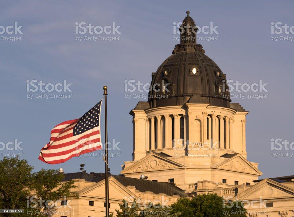 South Dakota State Capital Building Hughes County Pierre SD stock photo