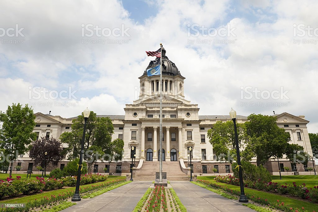 South Dakota State Capitol Building stock photo