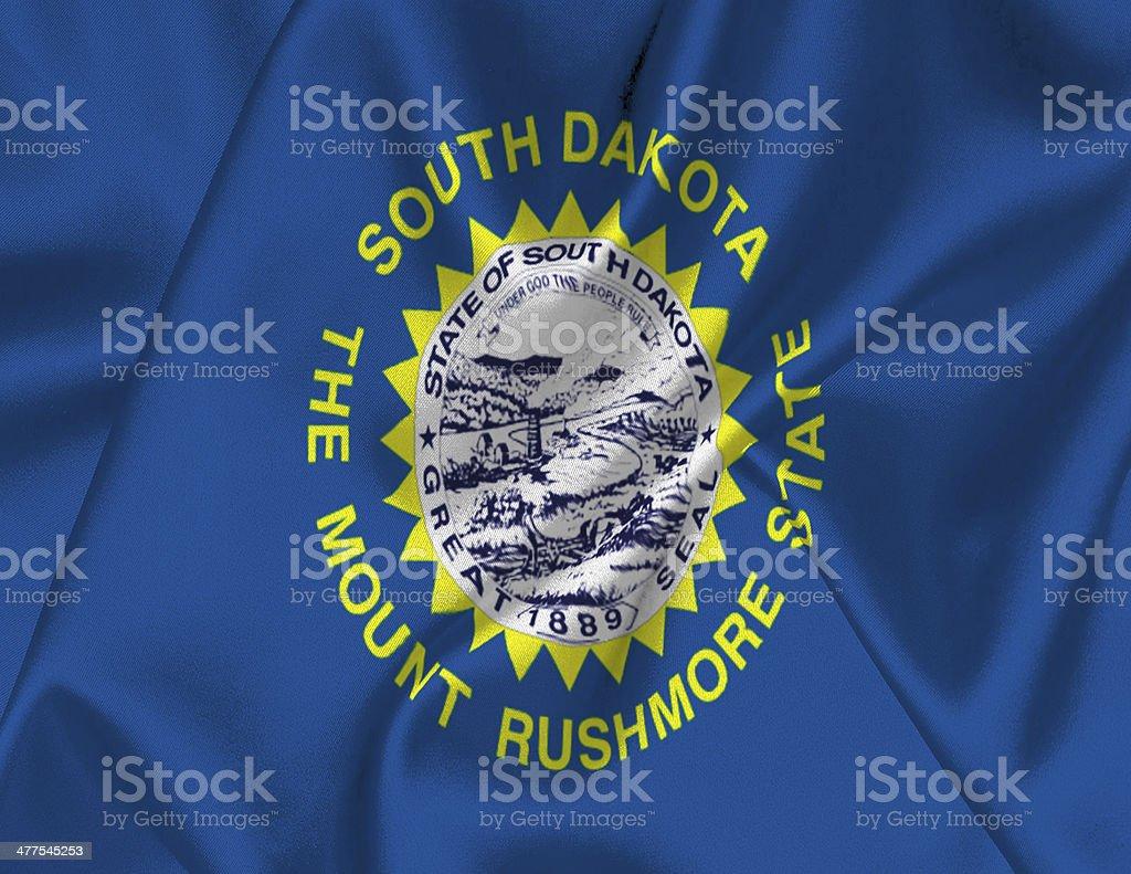 South Dakota State Flag stock photo