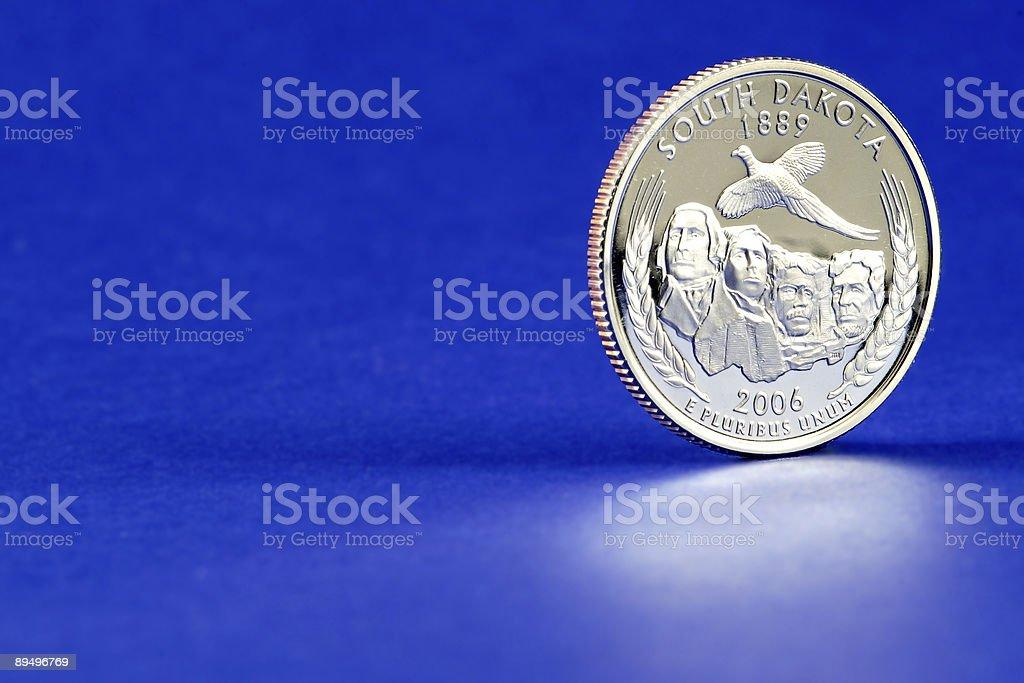 South Dakota State Quarter 2006 Coin stock photo