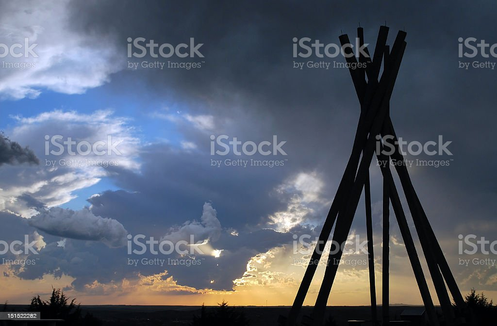 South Dakota Stormy Skies by Lisa Woodburn stock photo