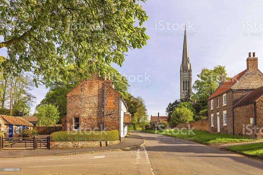 South Dalton village and St Mary's Church, Yorkshire, UK. stock photo