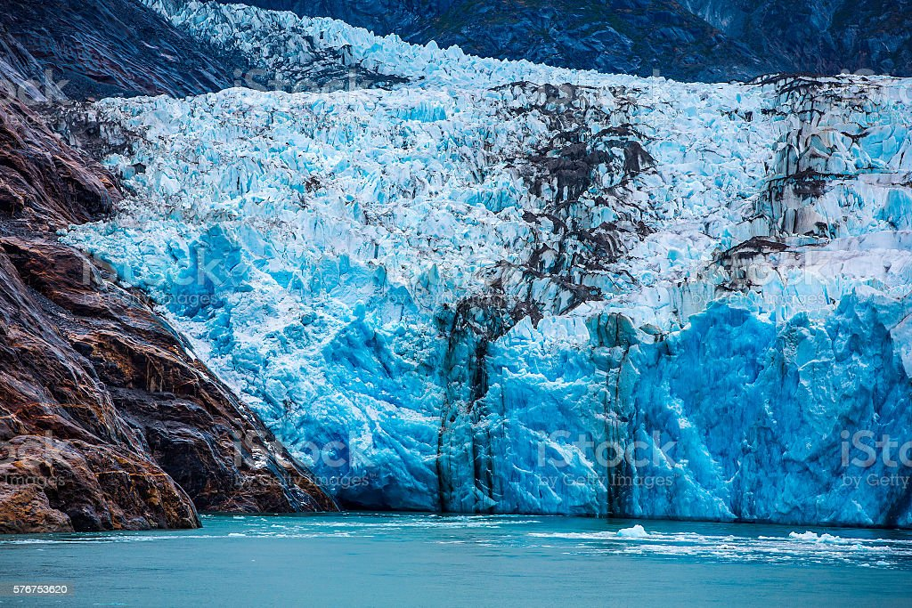 South Dawes Glacier in the Endicott Arm stock photo