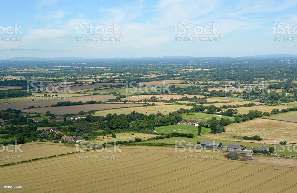 South Downs countryside near Brighton, England stock photo