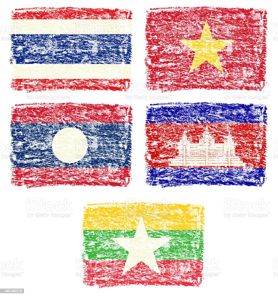 south east Asia country national flag stock photo