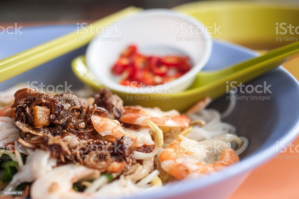 South East Asian Street Food Prawn Noodle stock photo