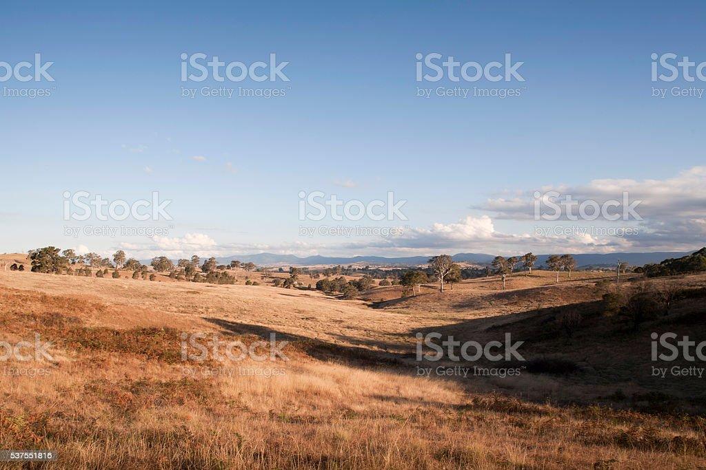 South east Australian landscape stock photo