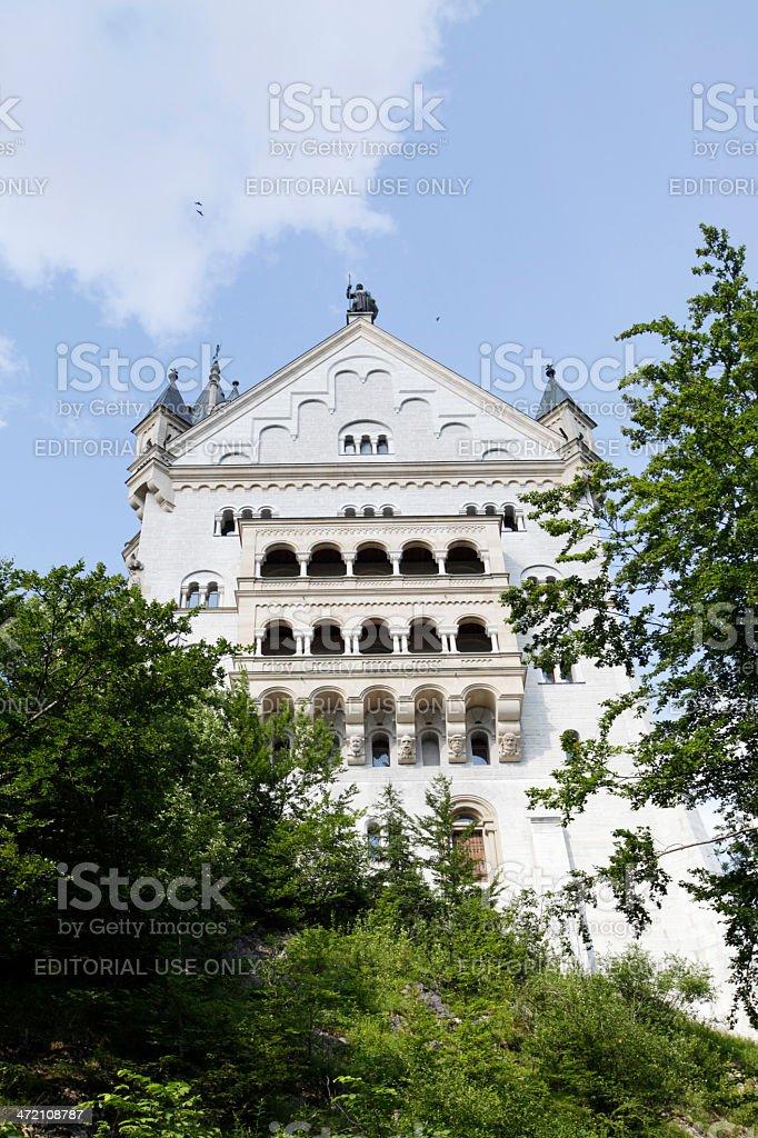 South facade of castle Neuschwanstein stock photo
