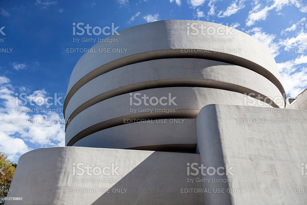 south facade of museum guggenheim in new york city stock photo
