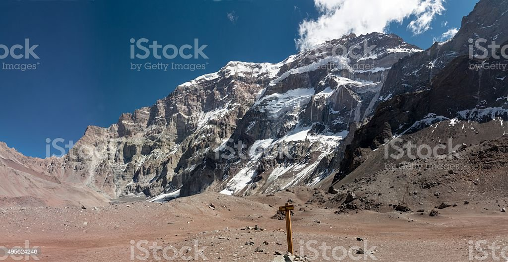South face of Aconcagua royalty-free stock photo