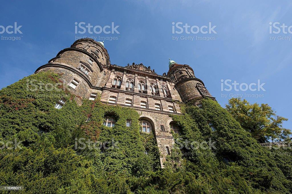 South face of Castle Ksiaz stock photo