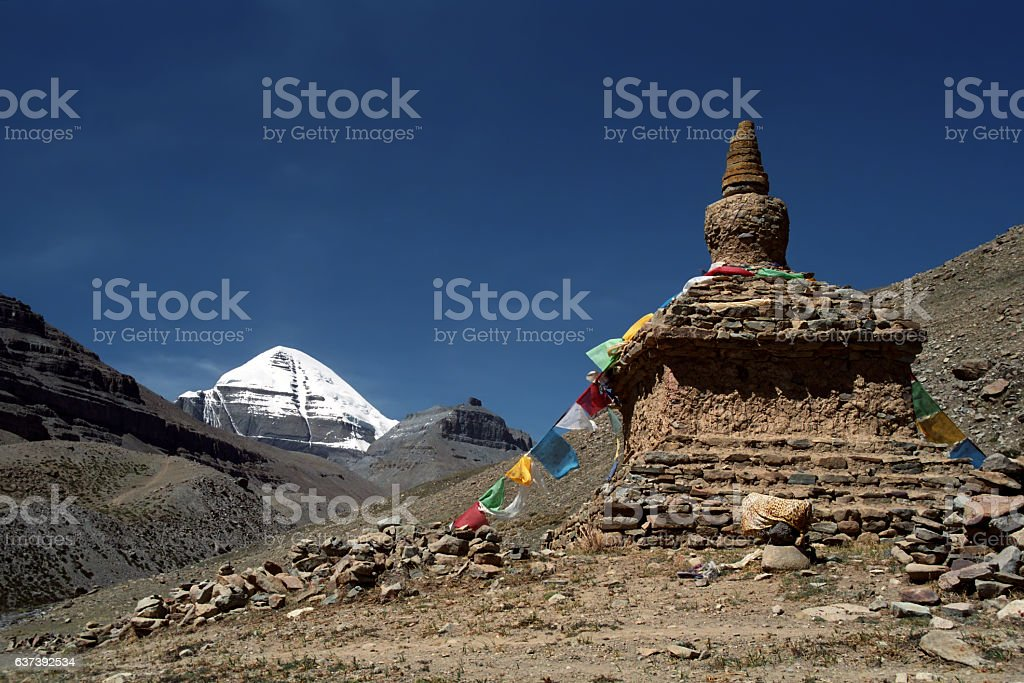 South Face of Mount Kailash. stock photo