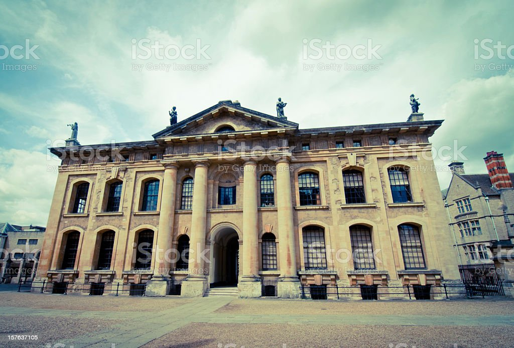South face of the Clarendon Building stock photo