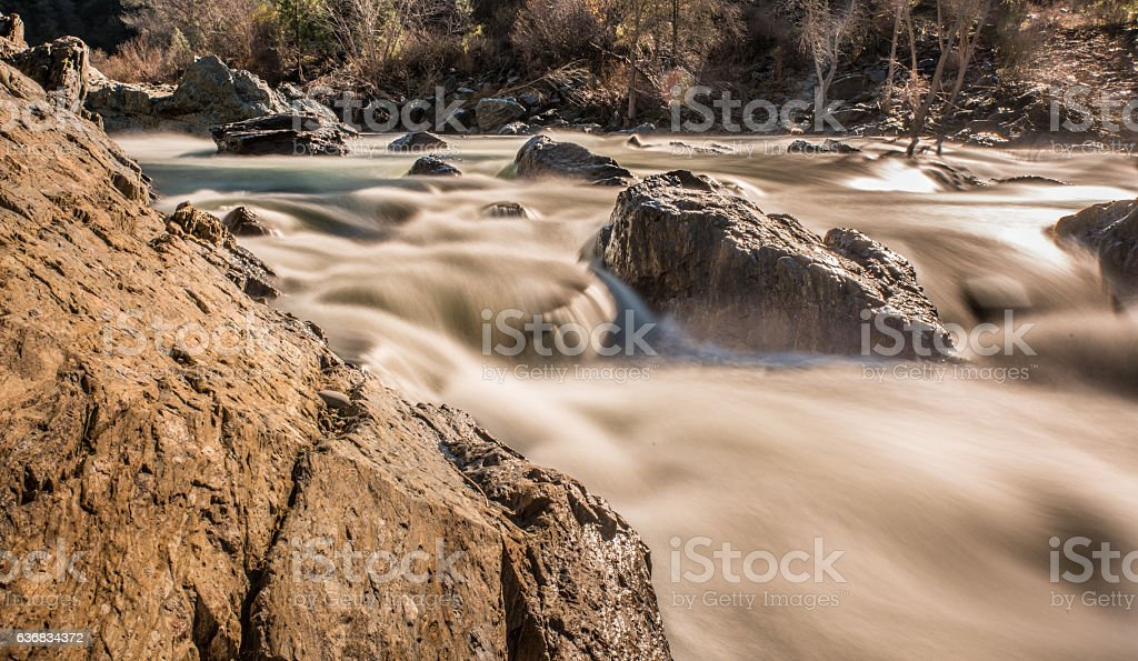 South Fork of the American River stock photo