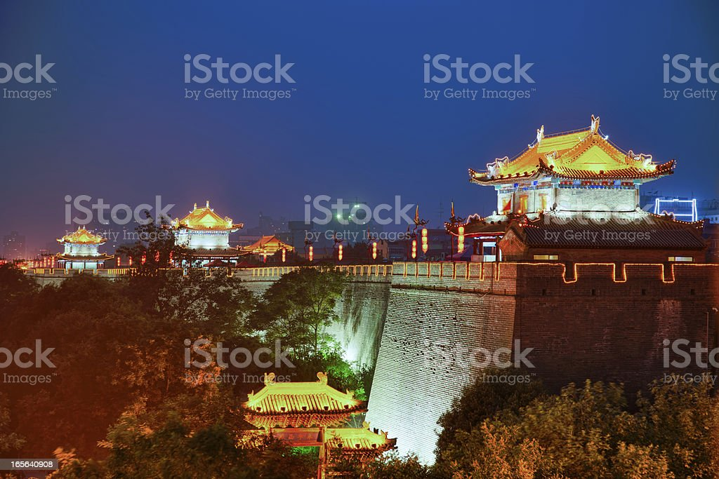 South gate of Xi'An City Wall, China stock photo