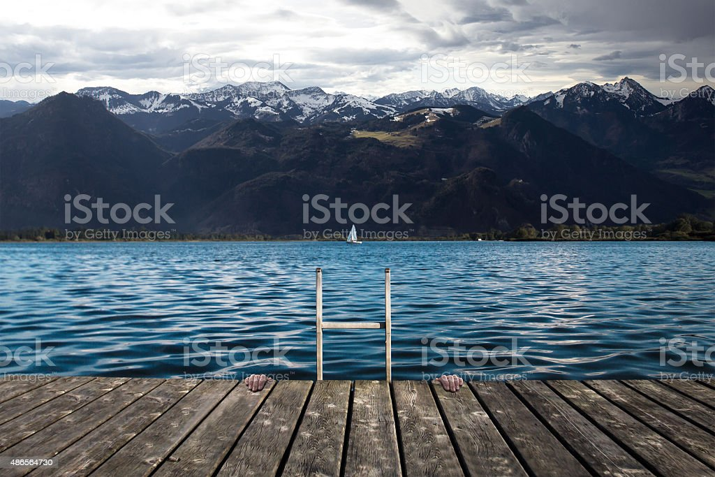 South Germany Lake (Chiemsee) stock photo