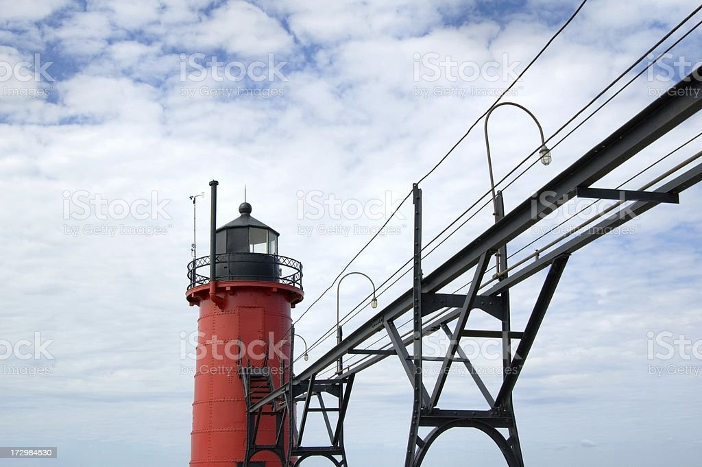 South Haven Light royalty-free stock photo