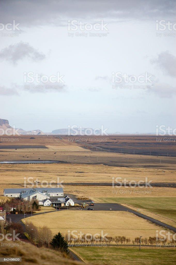 South Iceland scenery near Skógafoss stock photo