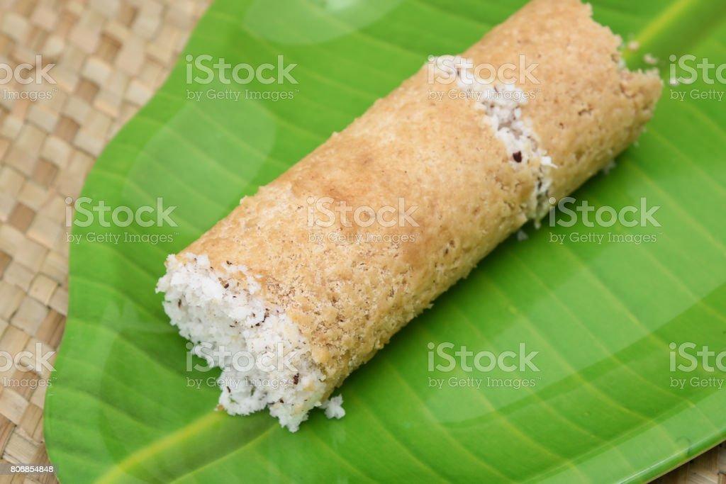 South Indian breakfast puttu Kerala India stock photo