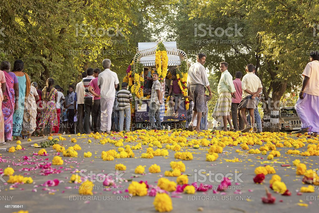 south indian funeral procession stock photo