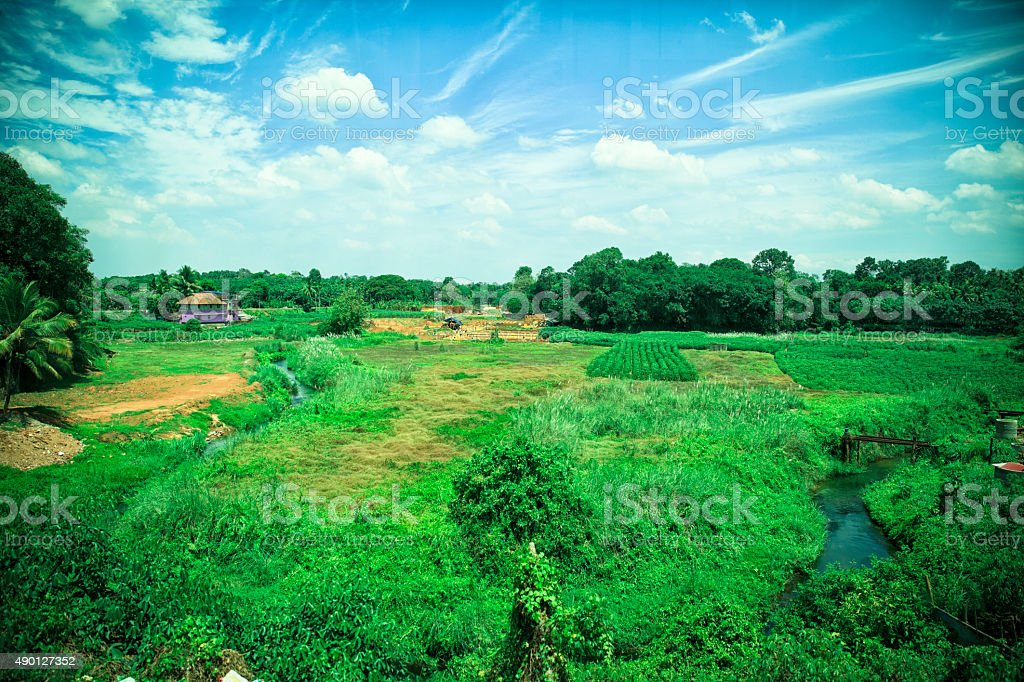 South Indian Landscape. stock photo