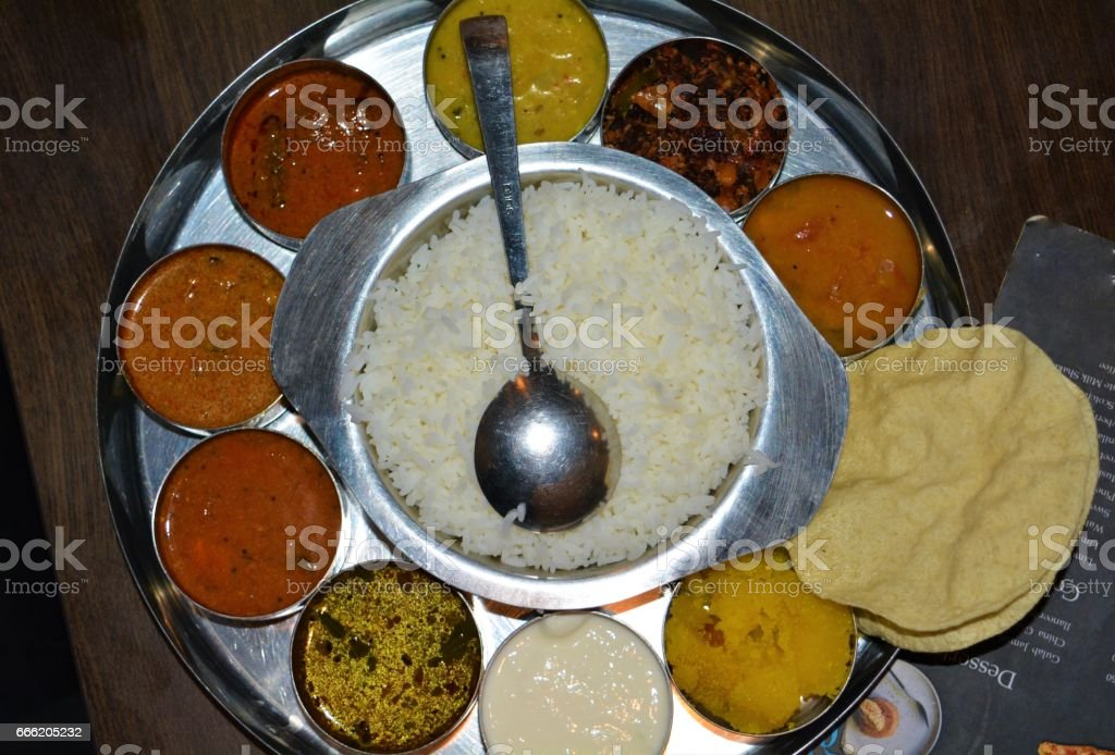 South Indian meal stock photo