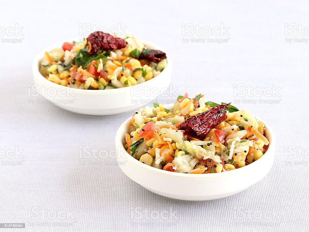 South Indian Salad Kosambari stock photo