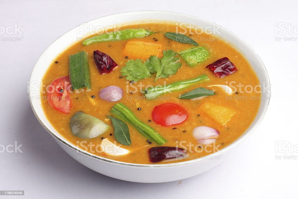 South Indian Sambar dish. stock photo