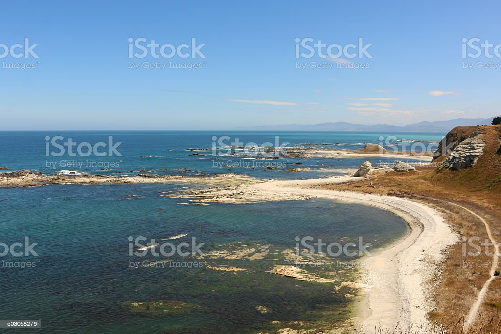 South Island landscape stock photo