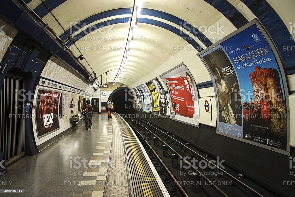 South Kensington Station, London royalty-free stock photo