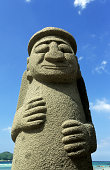 South Korea, Jeju Island, Grandfather statue.