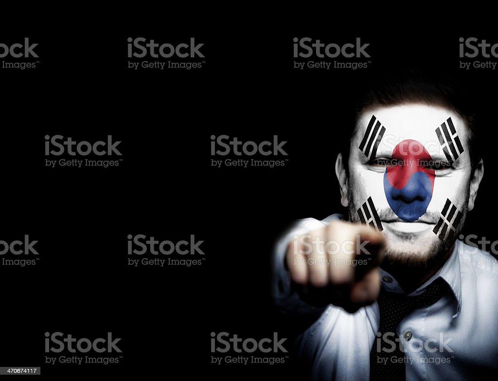 South Korea Sport Fan royalty-free stock photo