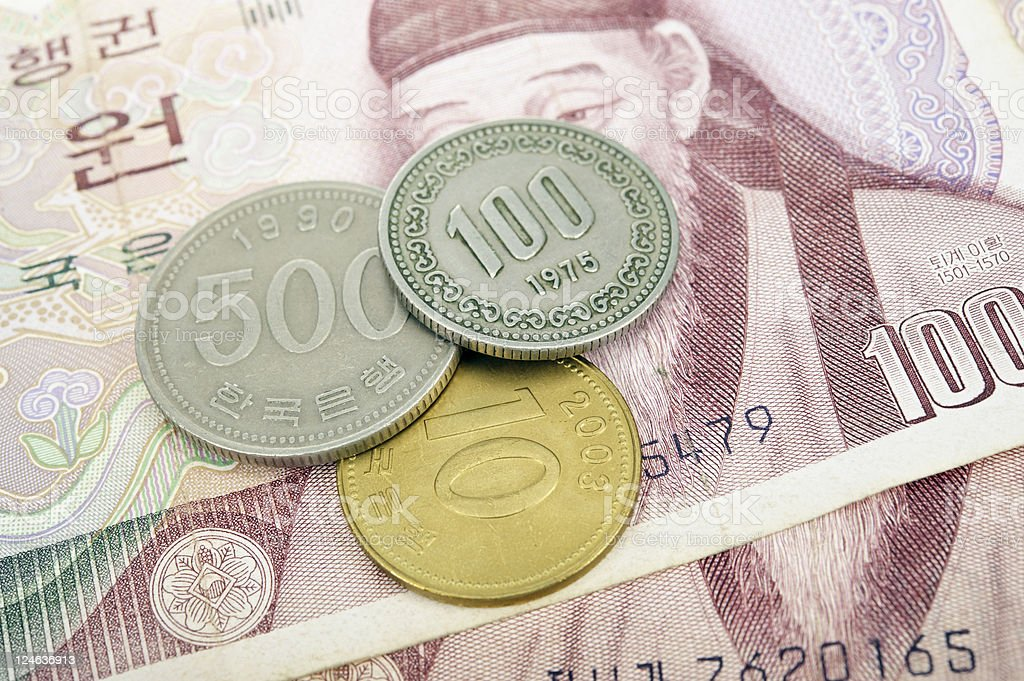 South Korean Money royalty-free stock photo