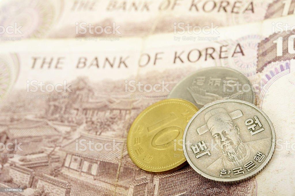 South Korean Money stock photo