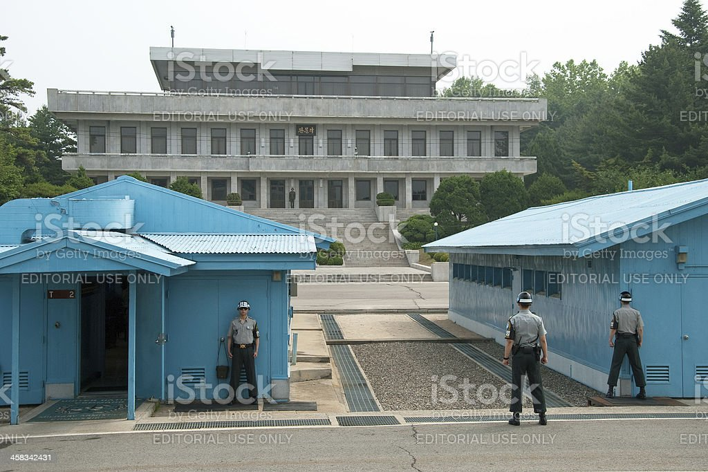 South Korean Soldiers in DMZ stock photo