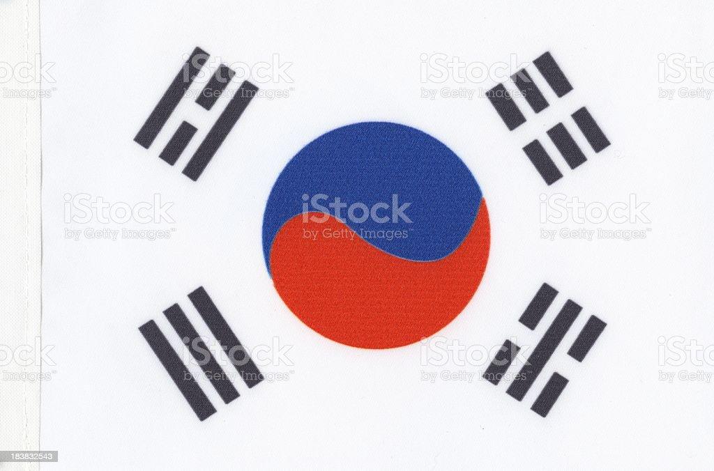 South Korea's flag canvas royalty-free stock photo