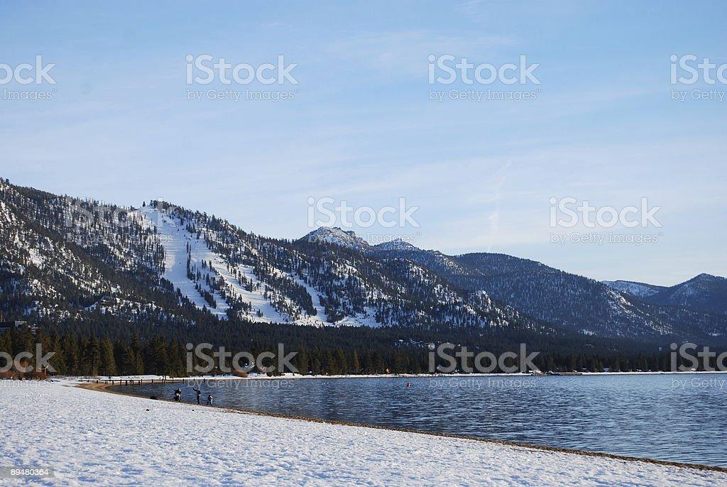 South Lake Tahoe - Nevada Beach, CA stock photo