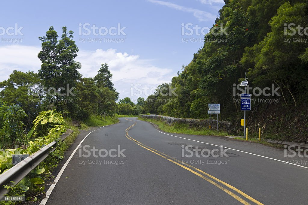 South Maui, Hawaii, USA, Road to Hana royalty-free stock photo