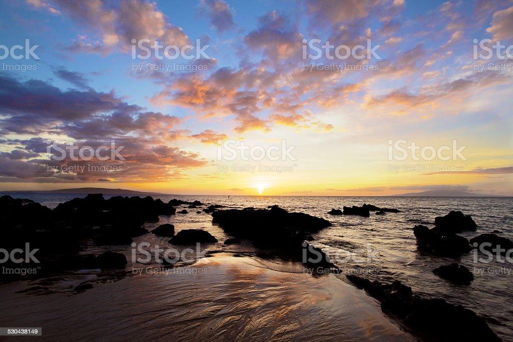 South Maui Sunset stock photo