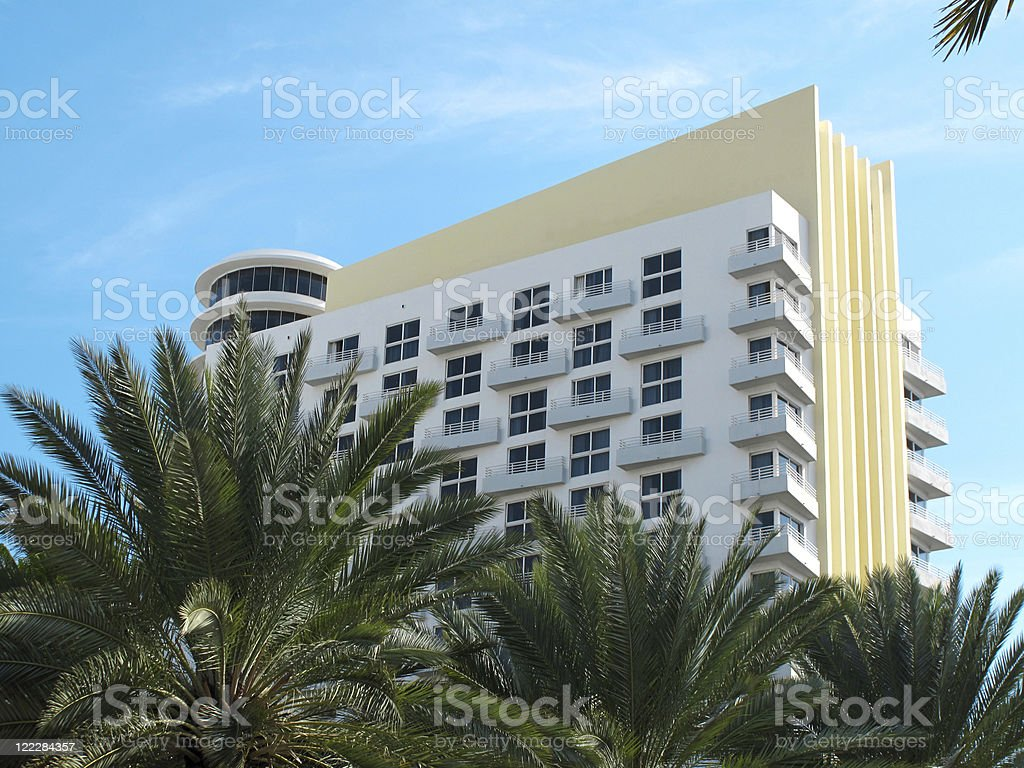 South Miami Beach Art Deco Hotel royalty-free stock photo