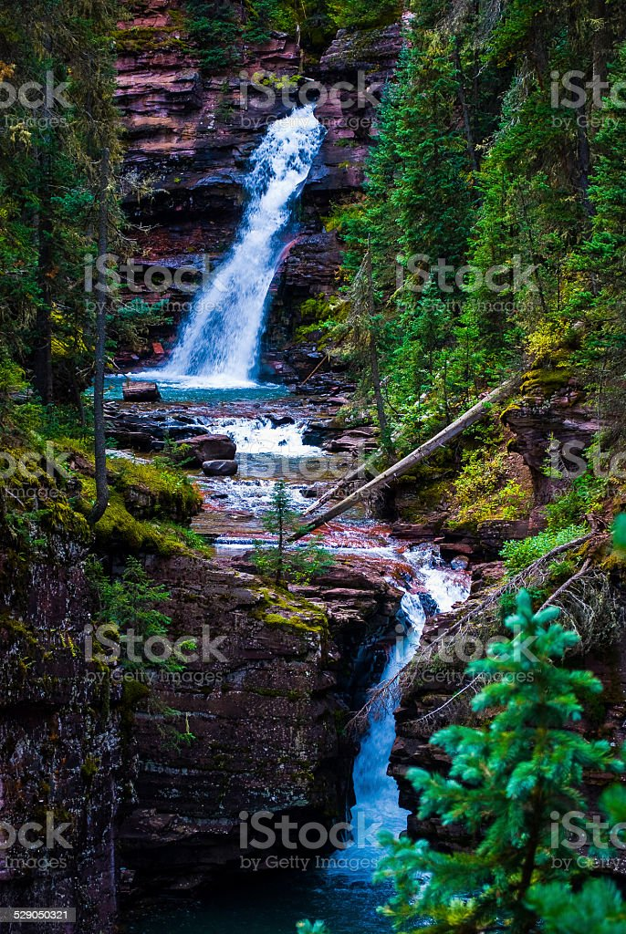 South Mineral Creek Waterfall One of the Best On Earth stock photo