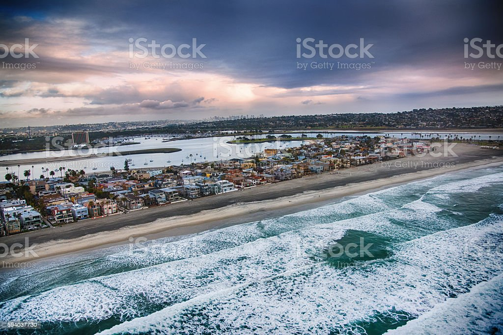 South Mission Beach, San Diego stock photo