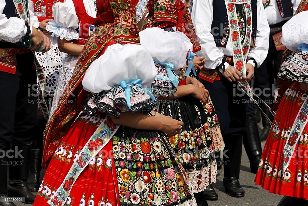 South Moravian traditions stock photo