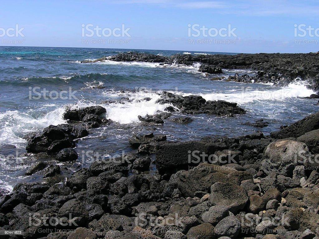 South Pacific volcano island coast royalty-free stock photo