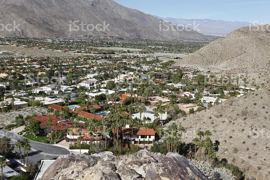 South Palm Springs Indian Canyons stock photo