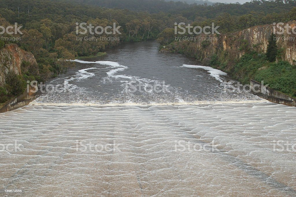 South Para Reservoir Spillway royalty-free stock photo