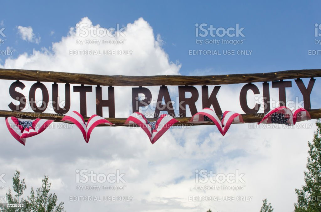 South Park City Entrance Sign stock photo
