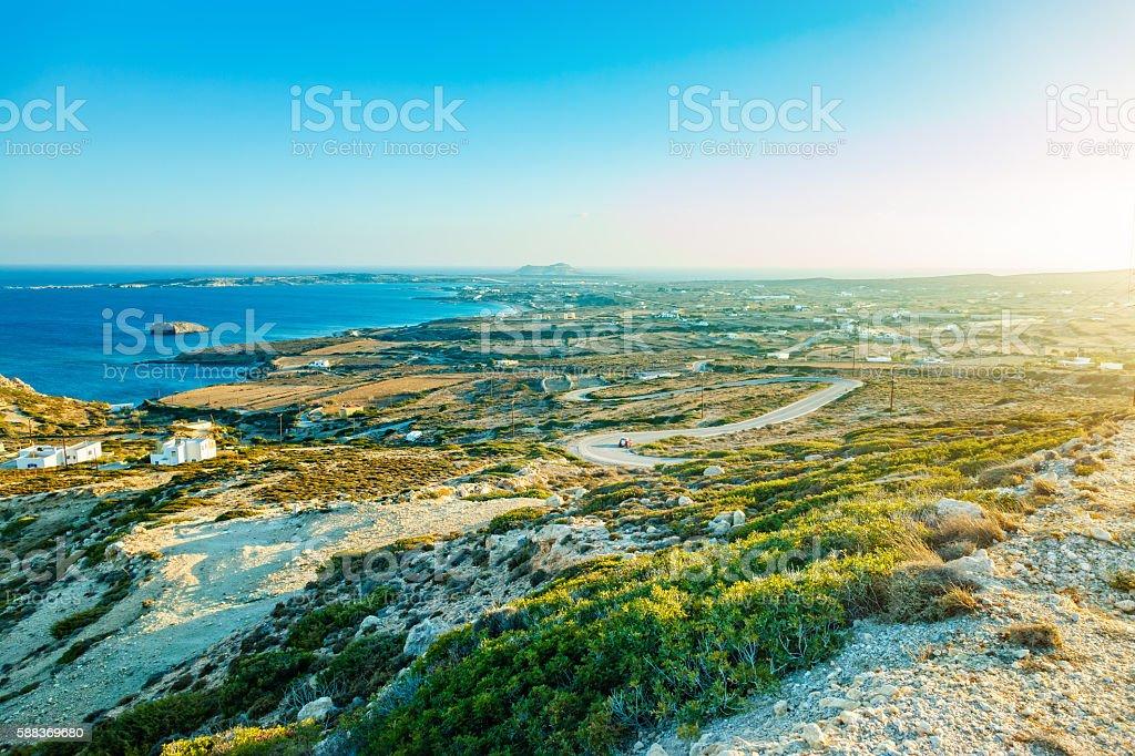 South part of Karpathos island, Greece stock photo